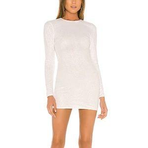Revolve Superdown Evie Sparkle Mini White Dress